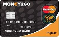 Money 2 go Prepaid kaart