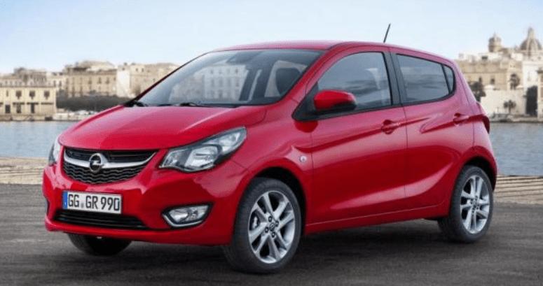 Rode uitvoering van Opel Karl