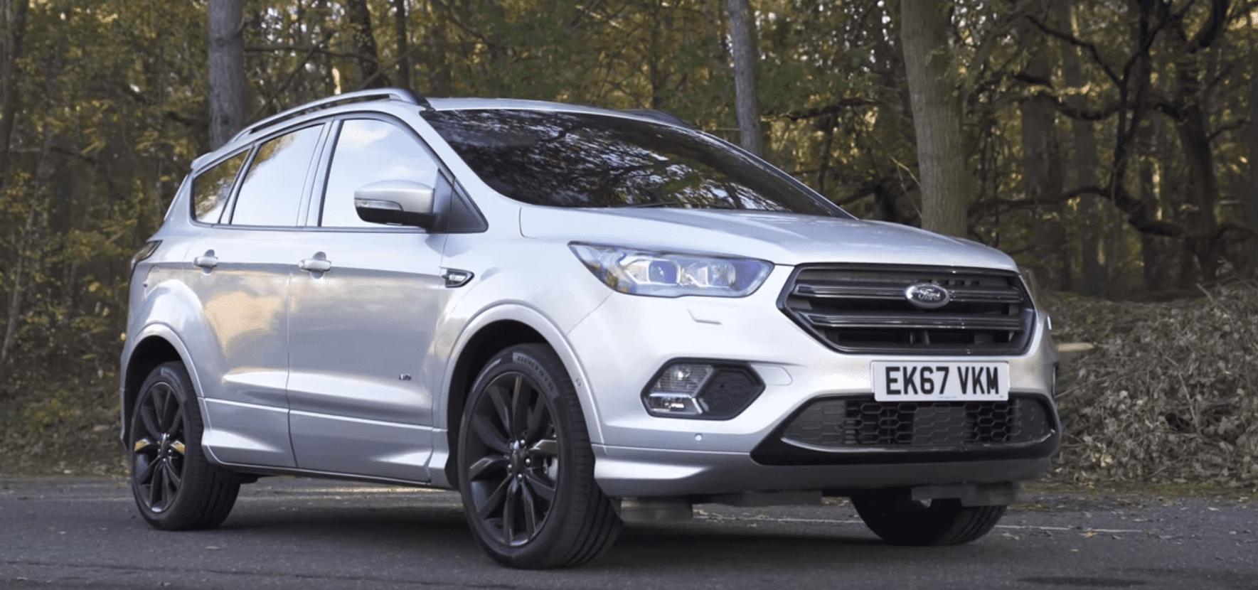 Zilveren Ford Kuga uit 2018