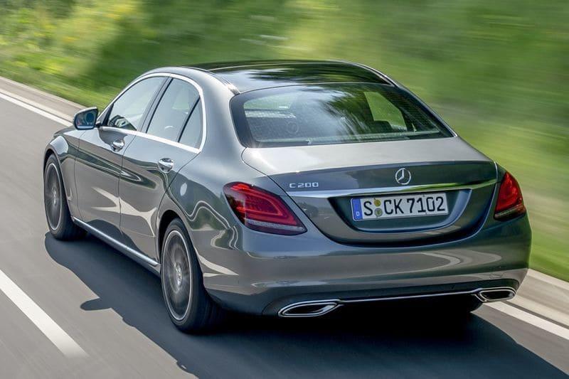 Mercedes C achter