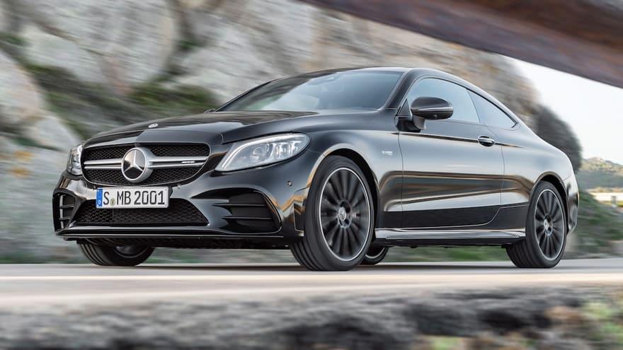 Mercedes C voor schuin