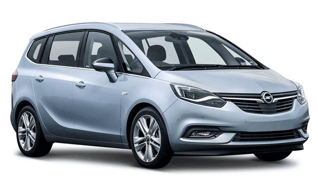 Opel Zafira licht blauw