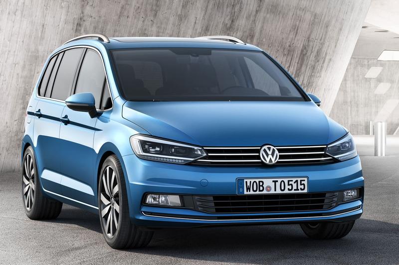 VW touran voor blauw