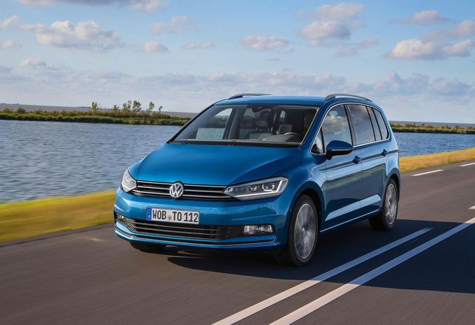 Volkswagen touran blauw voor