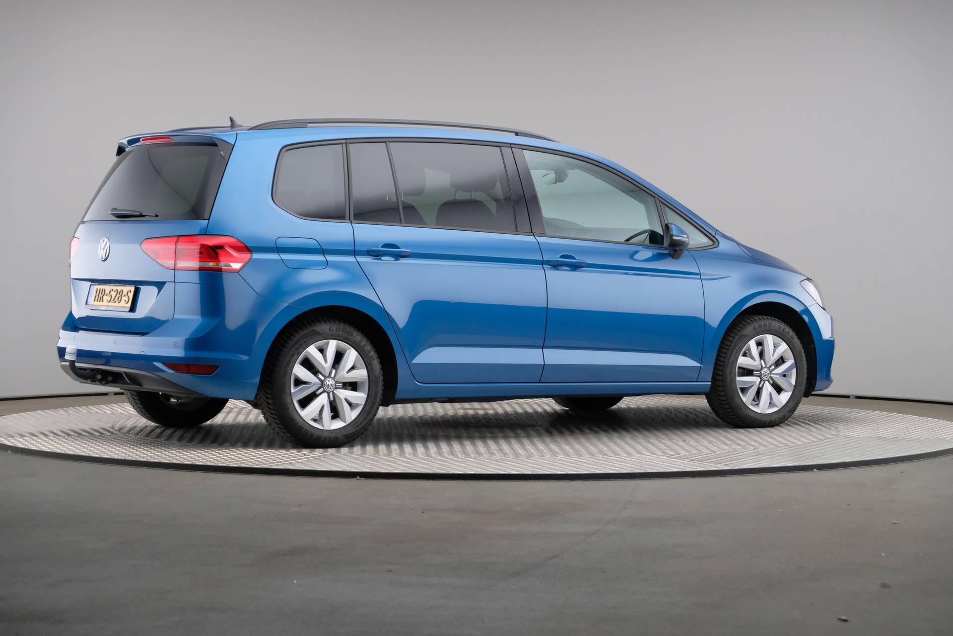 Volkswagen touran kant blauw