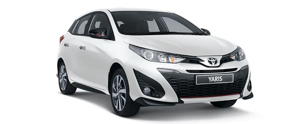 Toyota Yaris Wit Voor
