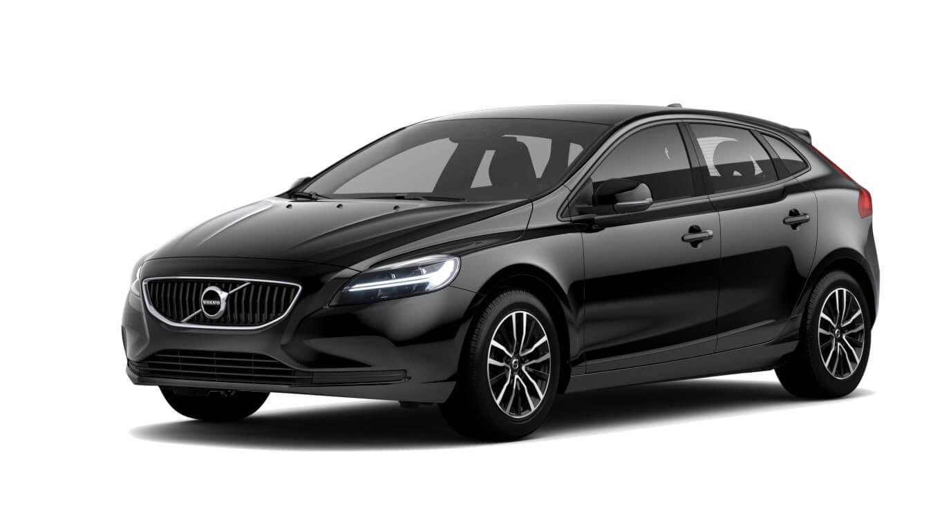 Volvo V40 zwart wit achtergrond