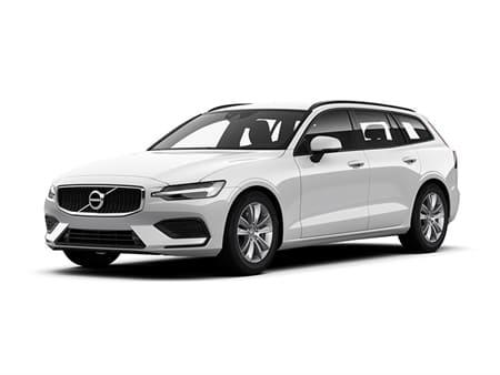 Volvo V60 wit met wit achtergrond