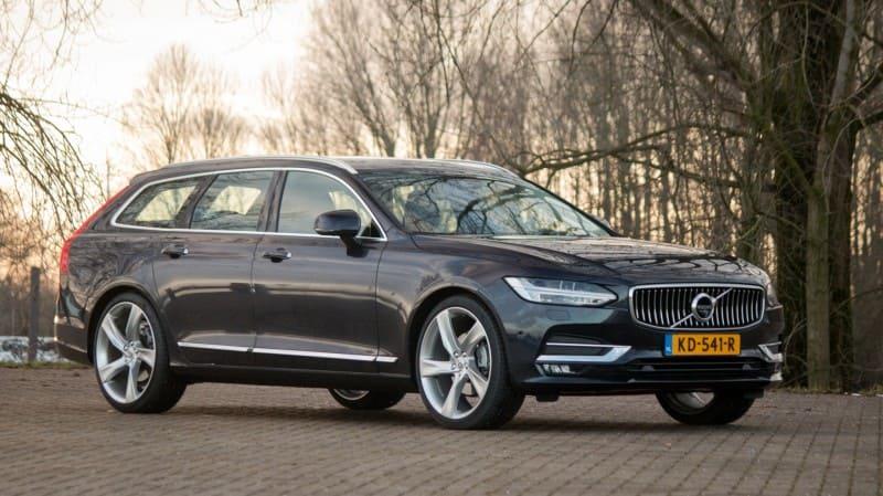 Volvo V90 grijs stilstaand