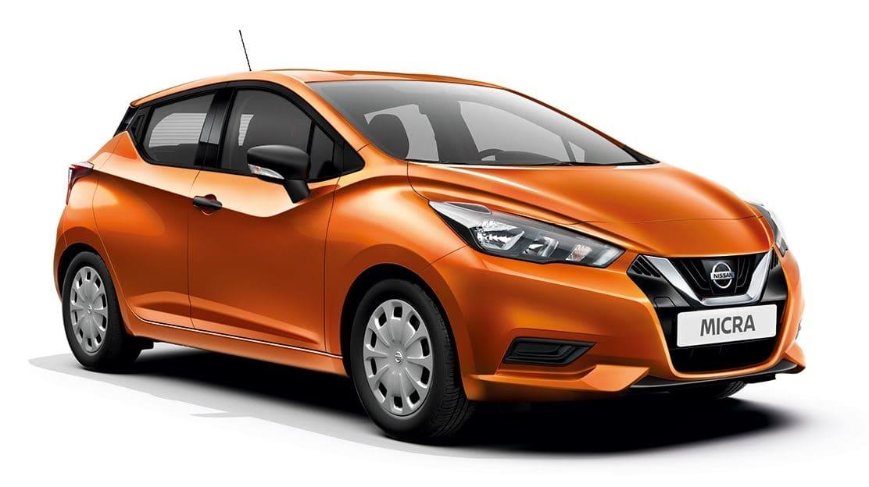 Nissan Micra Oranje voor