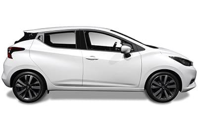 Nissan Micra zijkant Wit