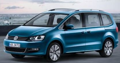 VW Sharan Blauw