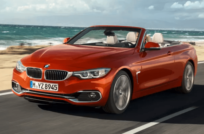 BMW 4 serie Oranje cabriolet