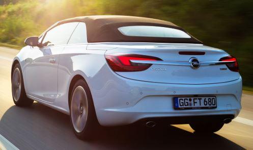Opel Cascada Wit Achterkant