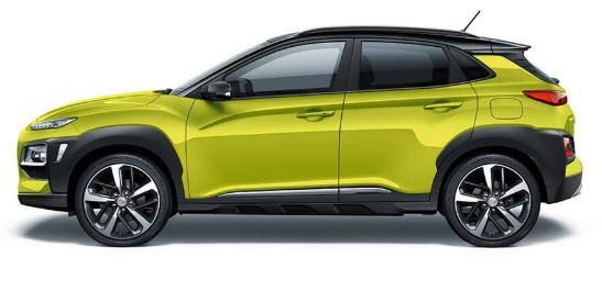 Hyundai Kona Zijkant