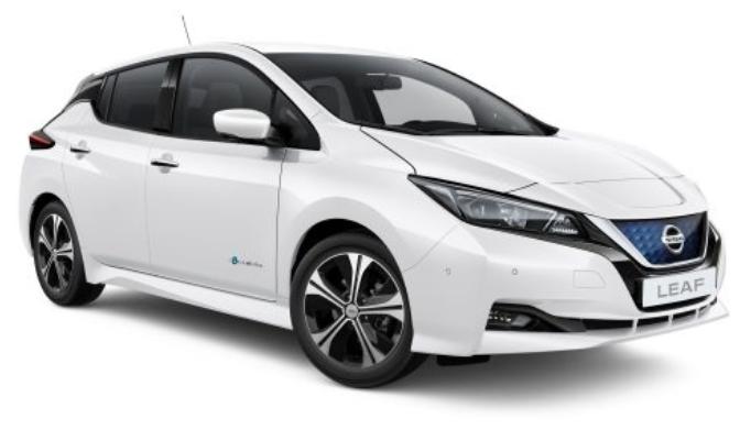 Nissan Leaf witte achtergrond
