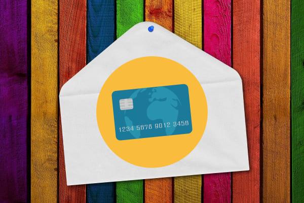 Envelop met een creditcard