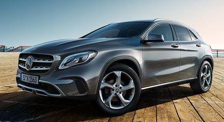 Mercedes GLA Zijkant